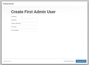 Create First Admin User