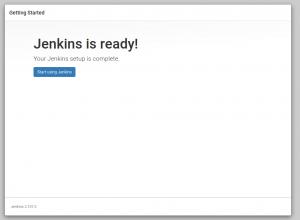 Jenkins is Ready