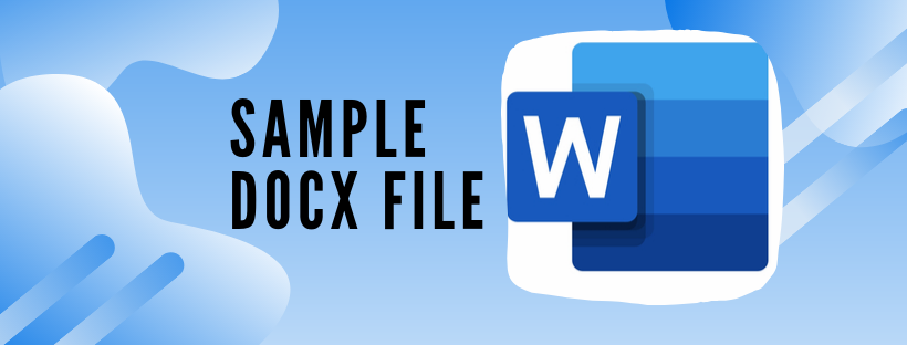 sample docx file for testing