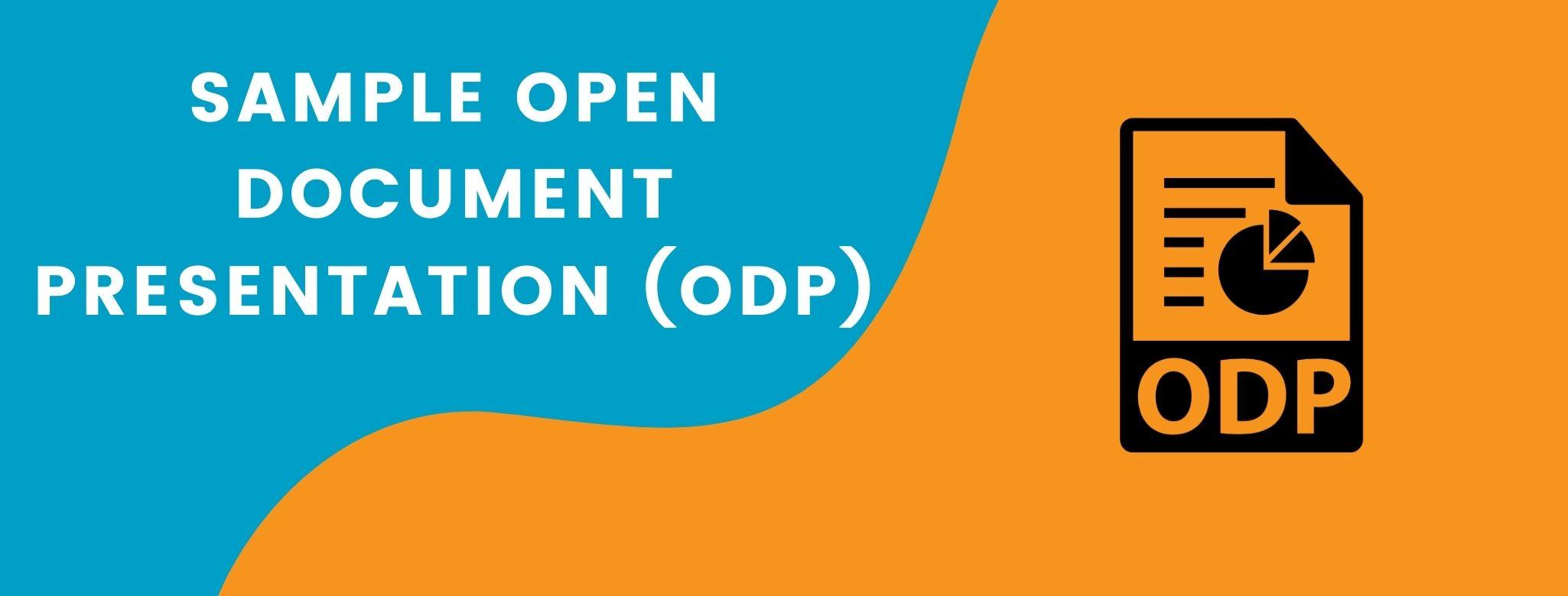 Sample Open Document Presentation